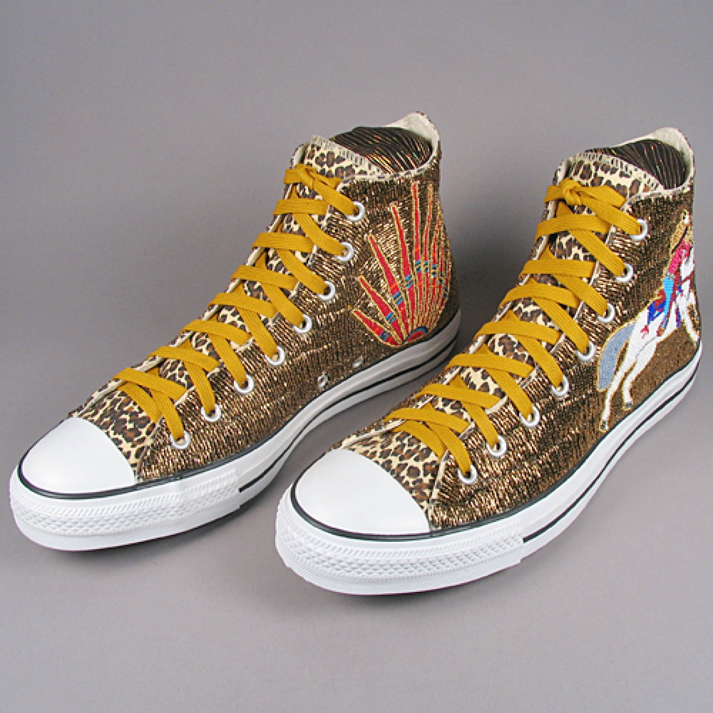 ccce070ffcd1 Fully Beaded High Top Converse Shoes
