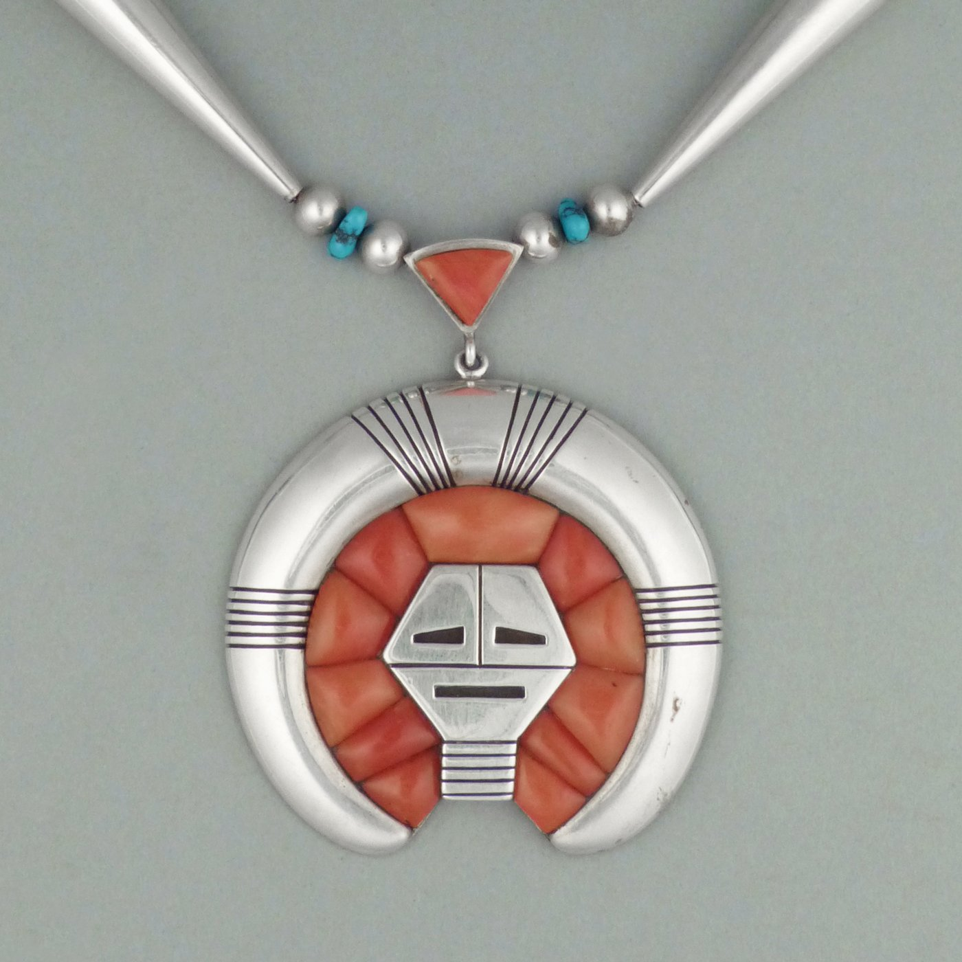 navajo turquoise necklace pendant more views