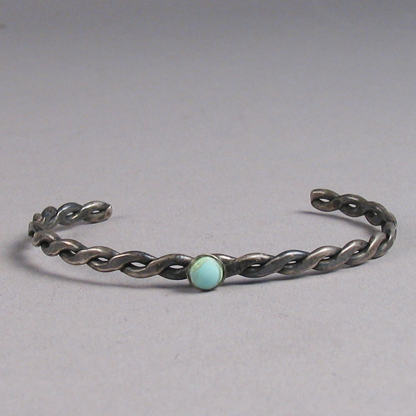 Vintage Navajo Twisted Wire Childs Bracelet with Stone c. 1940 ...